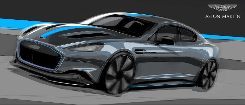 Aston Martin RapidE náčrt