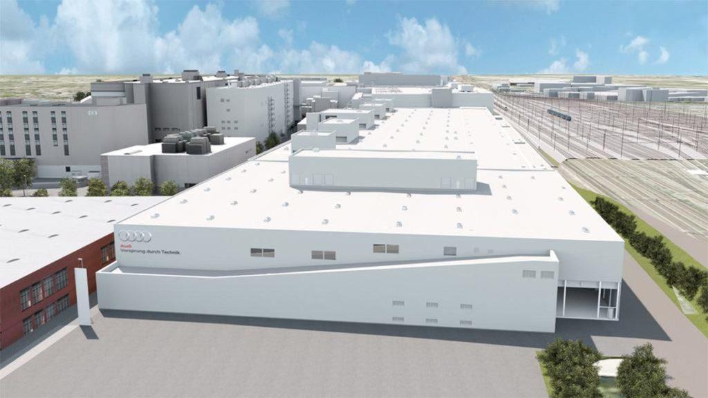 První pohled na představu továrny Audi