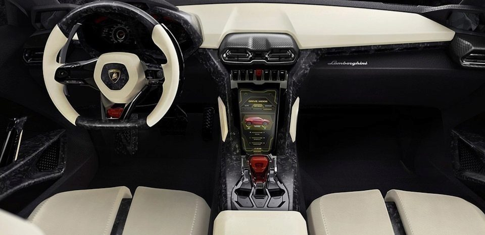 Lamborghini Urus interiér
