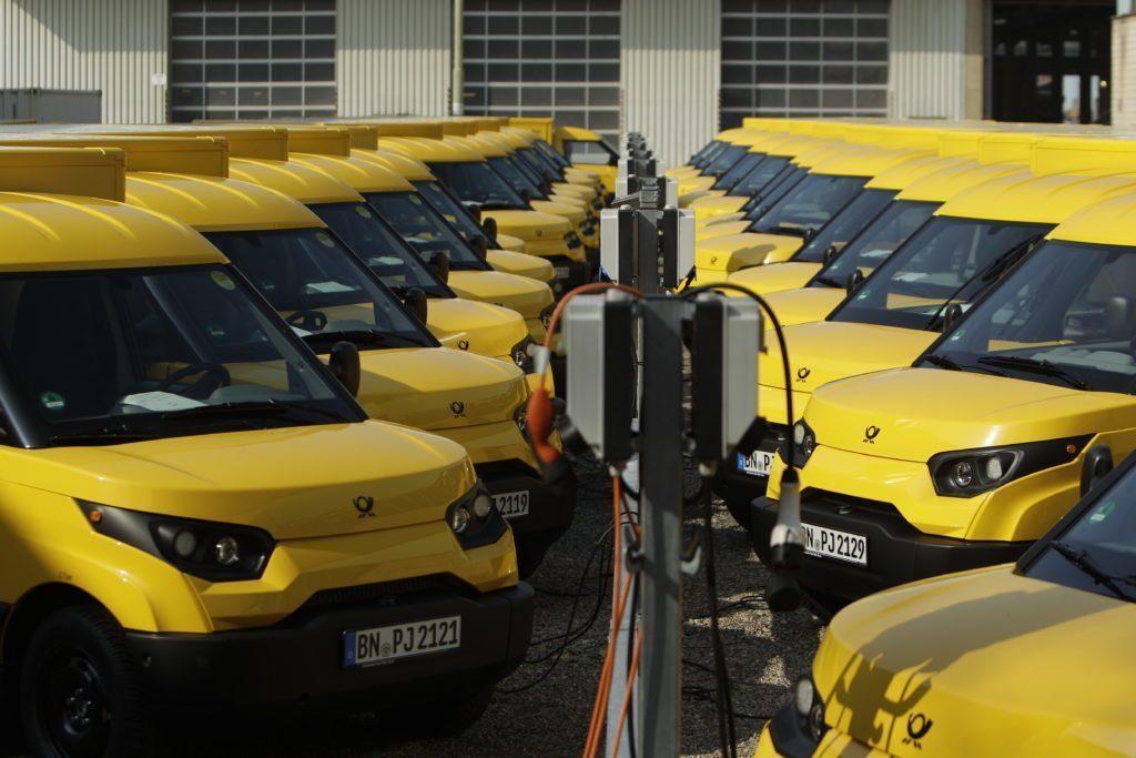 Elektromobilová flotila pošty v Neměcku