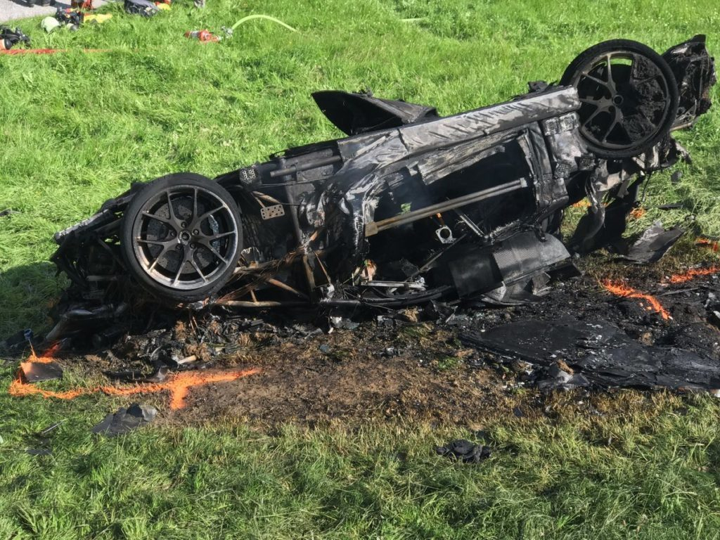 Rimac Concept One po požáru