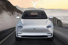 Design elektromobilu Tesla Model Y