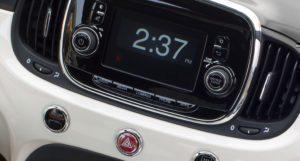 Fiat 500e Uconnect infotainment