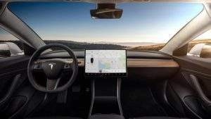 Tesla Model 3 interiér