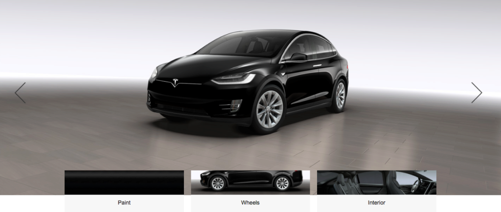 Tesla Model X design studio