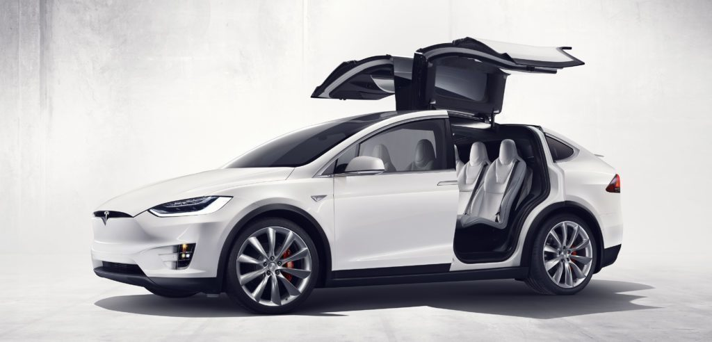 Tesla Model X Falcon Wings