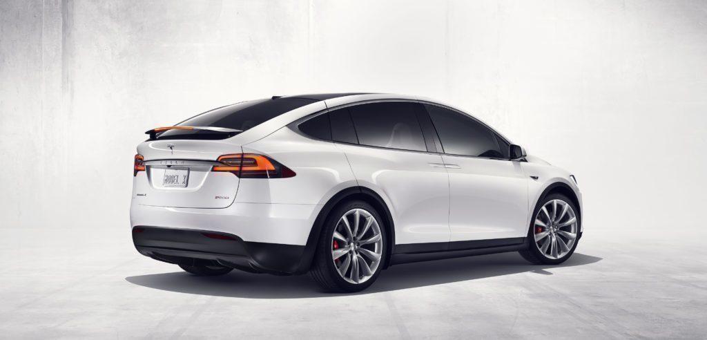 Tesla Model X zadní část
