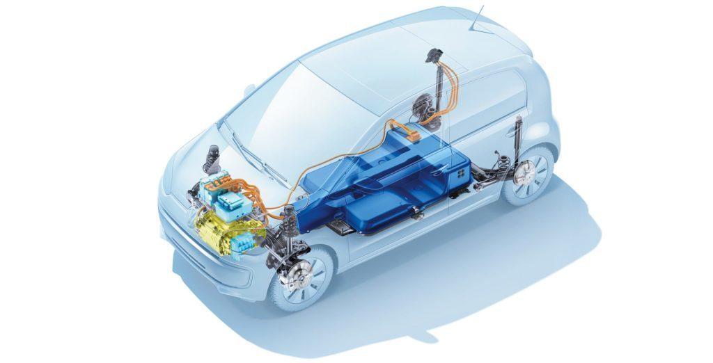 Volkswagen e-Up! elektromotor a baterie