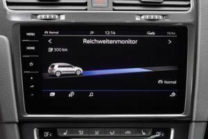 Volkswagen e-Golf interiér, GPS